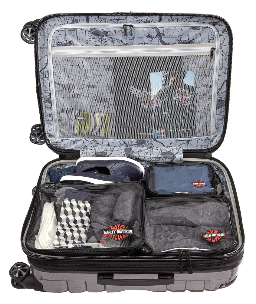 f906d2751288 Harley-Davidson® Clear Zippered Packing Cubes - Set of 3, 99663-RUST/CLEAR