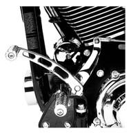 Harley-Davidson Billet Style Shift Levers - Chrome, Fits Dyna Models 34539-00 - Wisconsin Harley-Davidson