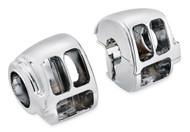 Harley-Davidson Chrome Switch Housing Kit, Fits XL/Dyna/Softail Models 71826-11 - Wisconsin Harley-Davidson