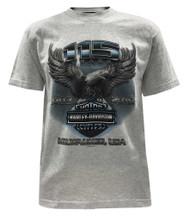 Harley-Davidson Men's 115th Anniversary Custom Eagle Short Sleeve T-Shirt, Gray - Wisconsin Harley-Davidson