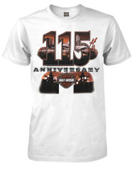 Harley-Davidson Men's 115th Anniversary Custom City Short Sleeve T-Shirt, White - Wisconsin Harley-Davidson