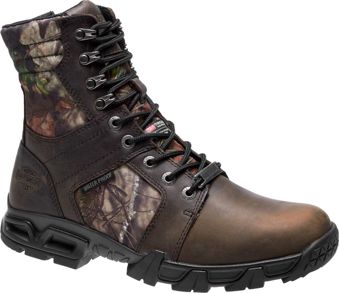 026cfbb0bc065b Harley-Davidson® Men's Gravier 6.5-Inch WP Camo Leather Motorcycle ...