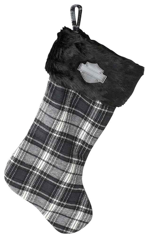 ca9c0092cad40 Harley-Davidson Winter Holiday Stocking - Black Plaid w  Satin Lining HDX -99116