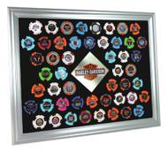 Harley-Davidson Silver Collector's Poker Chip Frame, Fits 50 Chips 6950 - Wisconsin Harley-Davidson