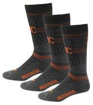 Harley-Davidson Wolverine Men's Merino Xtreme Socks, 3 Pairs D99226770-001 - Wisconsin Harley-Davidson