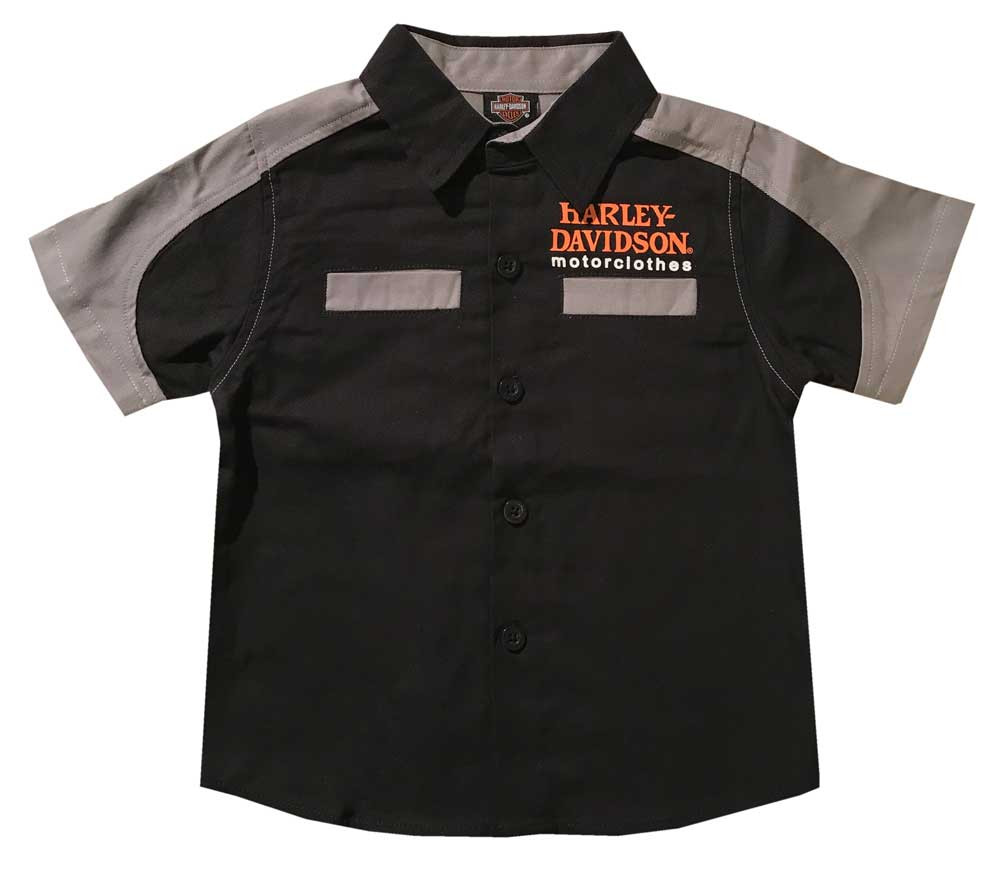 42b97e10 Harley-Davidson® Little Boys' Short Sleeve Woven Shop Toddler Shirt ...
