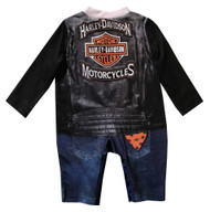 Harley-Davidson Baby Boys' Biker Knit Long Sleeve Coveralls, Black 3054805 - Wisconsin Harley-Davidson