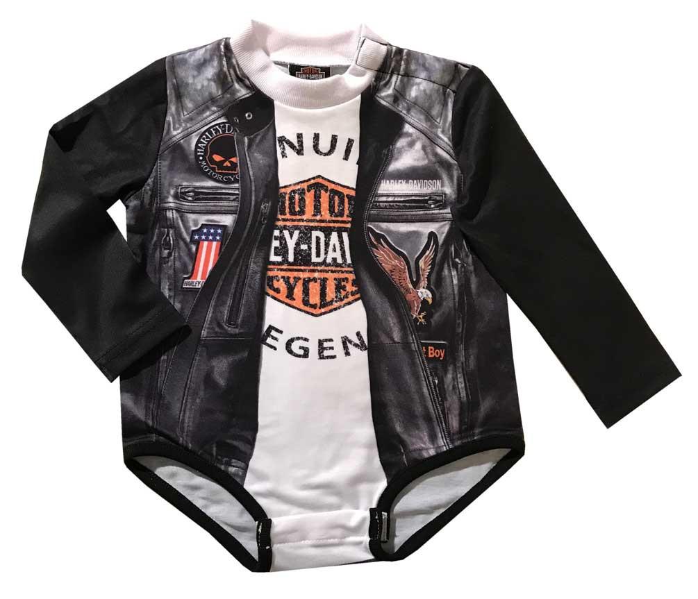 538ecd1b6 Harley-Davidson® Baby Boys  Biker Knit Long Sleeve Infant Creeper ...