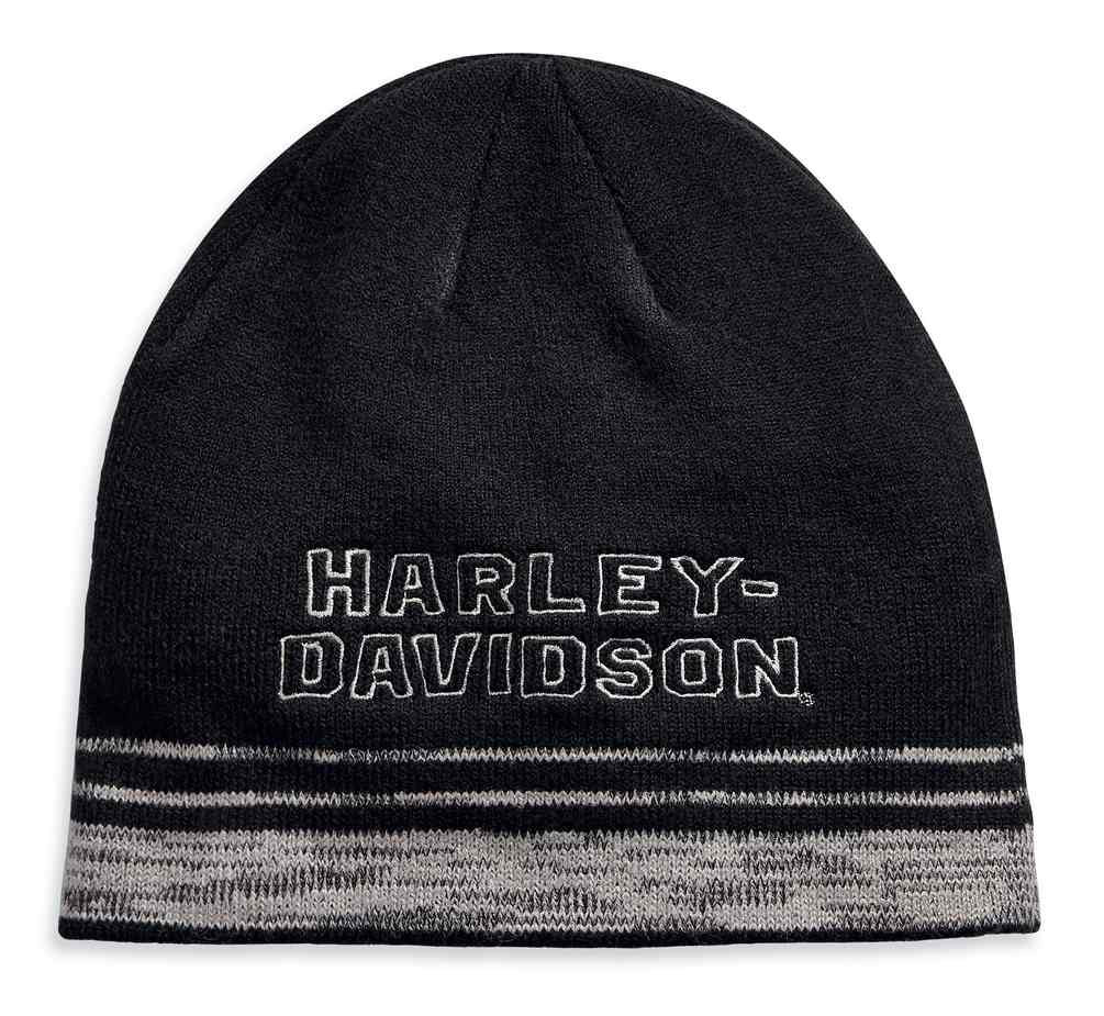 9c8096e25b61a5 Harley-Davidson® Men s Embroidered Heathered Knit Beanie Hat