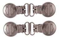 Harley-Davidson Men's Bar & Shield Mini Boot Clip, Sold In Pair HDMBS11600 - Wisconsin Harley-Davidson