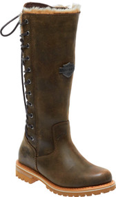 Harley-Davidson Women's Dorland 13.5-In Black or Brown Tall Fashion Boots D84321 - Wisconsin Harley-Davidson
