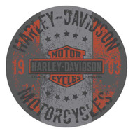 Harley-Davidson Distressed Motorcycle Steel Frame Bar Stool, Gray HDL-12136 - Wisconsin Harley-Davidson