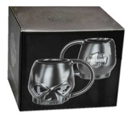 Harley-Davidson Core Sculpted Skull Coffee Mug, 14 oz. - Matte Black HDX-98616 - Wisconsin Harley-Davidson