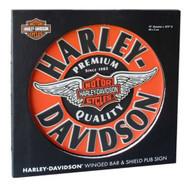Harley-Davidson Winged Bar & Shield Dimensional Pub Sign, Orange HDL-15320 - Wisconsin Harley-Davidson