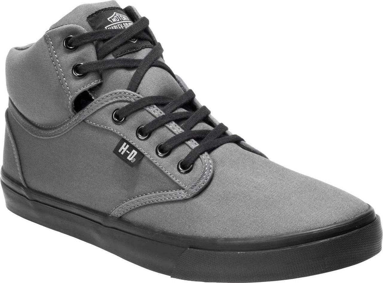 65d6c88a6577 Harley-Davidson® Men s Wrenford Black or Grey Canvas Sneakers D93544 ...