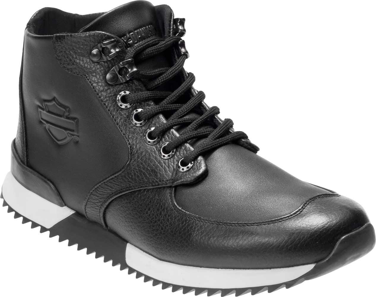 3ce1b5dbf99044 Harley-Davidson® Men s Cadden Black Leather Sneakers D93546 - Wisconsin  Harley-Davidson