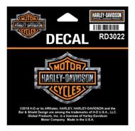 Harley-Davidson Refractive Bar & Shield Decal, SM Size - 2.25 x 1.75 inch RD3022 - Wisconsin Harley-Davidson