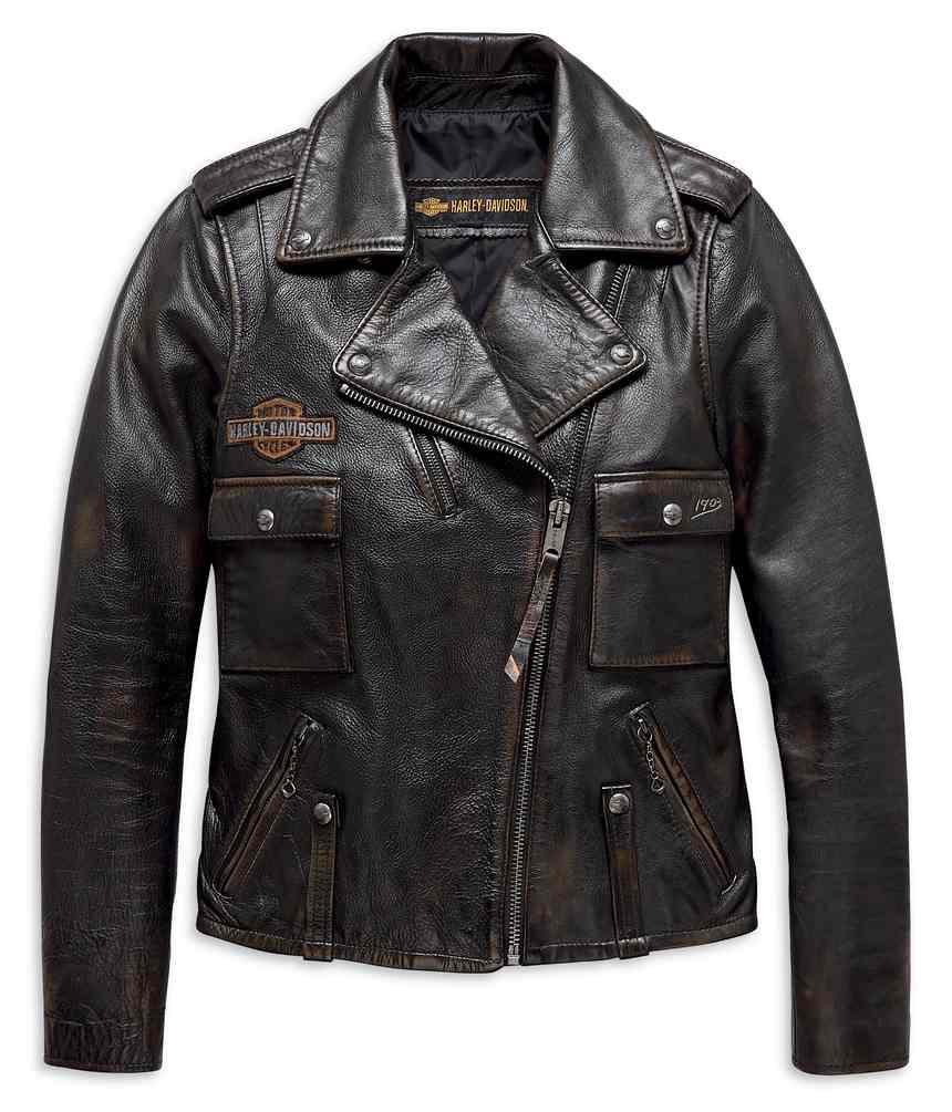 f5220c53e Harley-Davidson® Women's Eagle Logo Distressed Leather Biker Jacket  98076-19VW