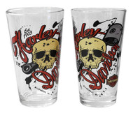 Harley-Davidson Piston Skull Growler Set w/ Two 16 oz. Pint Glasses HDL-18792 - Wisconsin Harley-Davidson