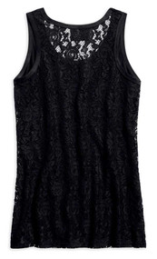 Harley-Davidson Women's Hearts & Serpents Lace Sleeveless Tank, Black 96309-19VW - Wisconsin Harley-Davidson