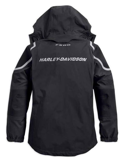 Harley-Davidson Women's FXRG Waterproof Two-Way Zip Rain Jacket 98342-19VW - Wisconsin Harley-Davidson
