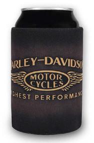 Harley-Davidson Highest Performance Neoprene Zippered Can Wrap, Brown CW33668 - Wisconsin Harley-Davidson