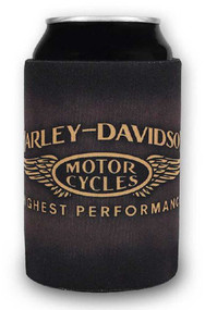Harley-Davidson Highest Performance Neoprene Zippered Can Wrap, Brown CW33668 - Wisconsin Harley-Davidson
