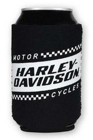 Harley-Davidson Ignition Race Flag Neoprene Can Flat Wrap, Black & White CF33488 - Wisconsin Harley-Davidson