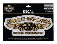 Harley-Davidson Highest Performance Decal, LG Size, 7 x 2.8125 in. DC336774 - Wisconsin Harley-Davidson