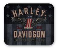 Harley-Davidson RWB #1 Wings Thick Neoprene Mouse Pad - 9.25 x 7.75 in. MO33812 - Wisconsin Harley-Davidson