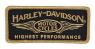 Harley-Davidson Embroidered Highest Performance Emblem Patch, SM Size EM336772 - Wisconsin Harley-Davidson