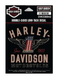 Harley-Davidson RWB #1 Double-Sided Low-Tack Decal, SM Size, 4 x 4 in. DW338842 - Wisconsin Harley-Davidson
