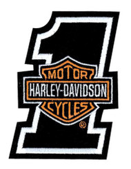 Harley-Davidson Embroidered #1 B&S Emblem Patch, 2 x 2.625 in. EMB035062 - Wisconsin Harley-Davidson