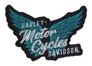 Harley-Davidson Embellished Pure Freedom Emblem Patch, 4.5 x 3.1875 in. EM335412 - Wisconsin Harley-Davidson
