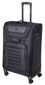 Harley-Davidson Onyx Quilted Wheeled Travel Luggage - Sleek Midnight Black - Wisconsin Harley-Davidson