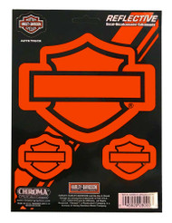 Harley-Davidson Reflective Silhouette Bar & Shield Decals - 6 x 8 in. CG28000 - Wisconsin Harley-Davidson