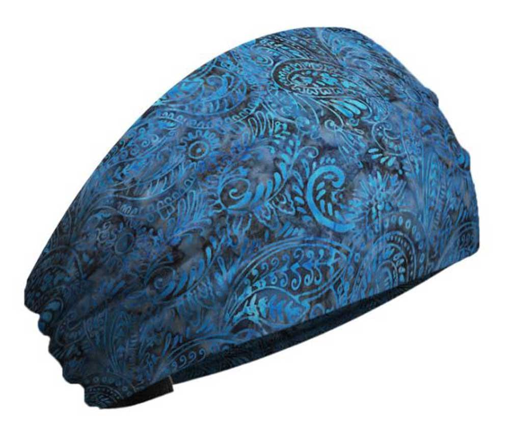 f84bbe899b7 That s A Wrap Women s Batik Bandana Paisley Print Knotty Band - Blue KB1218  - Wisconsin Harley-Davidson