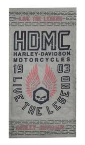 Harley-Davidson Men's Forged Skull Multifunctional Headwear - Gray MHW31954 - Wisconsin Harley-Davidson
