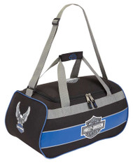 Harley-Davidson Bar & Shield Blue Trim Duffel Bag w/ Strap 99418 BLUETRIM - Wisconsin Harley-Davidson