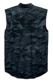 Harley-Davidson Men's Camouflage Print Blowout Sleeveless Shirt 96645-19VM - Wisconsin Harley-Davidson