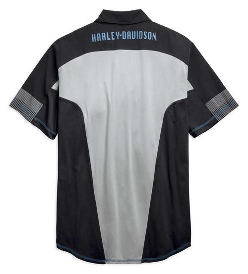 Harley-Davidson Men's Performance Mesh Panel Colorblocked Shirt 96657-19VM - Wisconsin Harley-Davidson