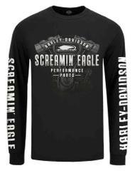 Harley-Davidson Men's Screamin' Eagle Engine Long Sleeve Shirt, Black R003409 - Wisconsin Harley-Davidson