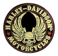 Harley-Davidson 1 in. Winged Skull Pin, Black & Off-White Finish 8008901 - Wisconsin Harley-Davidson