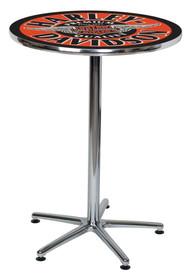 Harley-Davidson Winged Bar & Shield Round Cafe Table - Black & Orange HDL-12328 - Wisconsin Harley-Davidson