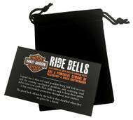 Harley-Davidson Bar & Shield Red Stripe Ride Bell - Black Finish HRB101 - Wisconsin Harley-Davidson
