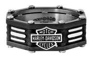Harley-Davidson Men's Black Edge Bar & Shield Band Ring, Stainless Steel HSR0056 - Wisconsin Harley-Davidson