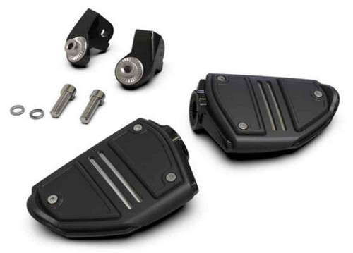 Ciro Goldstrike Twin Rail Footrests w/ Driver Adapter - Gold Wing, 68405-68425 - Wisconsin Harley-Davidson