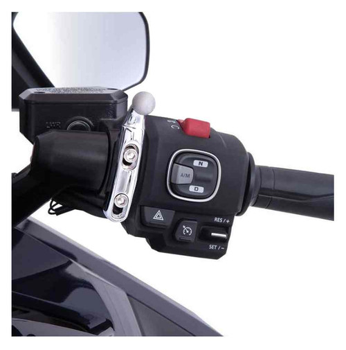 Ciro Goldstrike Left or Right Side Accessory Mount, Chrome or Black 58110-58119 - Wisconsin Harley-Davidson