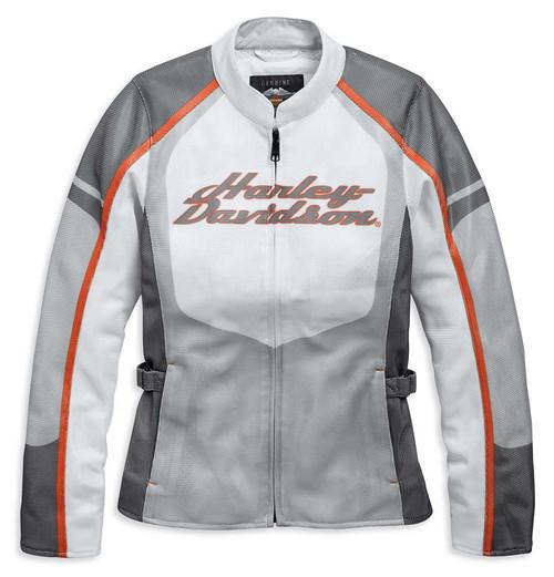 Harley-Davidson Women's Solarus H-D Mesh Riding Jacket, White 97157-19VW - Wisconsin Harley-Davidson