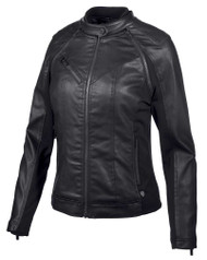 Harley-Davidson Women's Coated Denim Convertible Jacket - Black 97509-19VW - Wisconsin Harley-Davidson